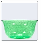 Clear  Plastic Bowl - Large - Green