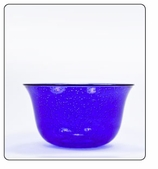 Clear Plastic Bowl - Small-Blue