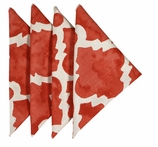 Cloth Napkins Coral Red