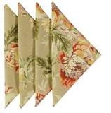 Cloth Napkins Yellow Floral
