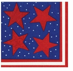 Cocktail Napkins 4th July Flag