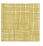Cocktail Napkins Gold Plaid