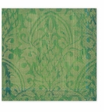 Cocktail Napkins Green Damask