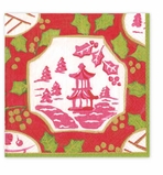 Cocktail Napkins Pink Pagoda