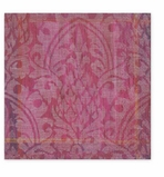 Cocktail Napkins Purple Damask