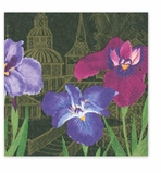 Cocktail Napkins Purple Garden