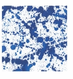 Cocktail Napkins Splatterware Blue