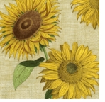 Cocktail Napkins Sunflower