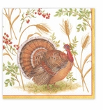 Cocktail Napkins Turkeys