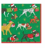 Cocktail Napkins Xmas Dogs