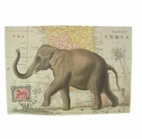 Decorative Art Prints Elephant Map Poster