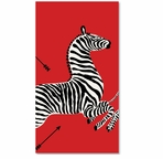 Paper Hand Towels Zebra Red