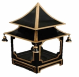 Decorative Lanterns Black Gold Pagoda