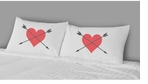 Decorative Pillow Cases Heart Arrows
