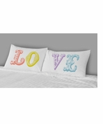 Decorative Pillowcases Love in Color