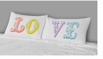 Decorative Pillow Cases Love in Color