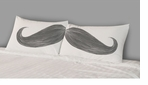 Decorative Pillow Cases Mustache