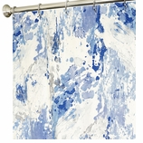 Extra Long Shower Curtains Azure