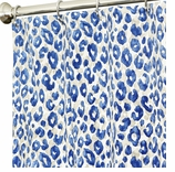 Extra Long Shower Curtains Blue Animal