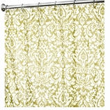 Extra Long Shower Curtains Damask Gold
