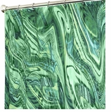 Extra Long Shower Curtains Marble Green