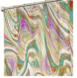 Extra Long Shower Curtains Marble Rainbow