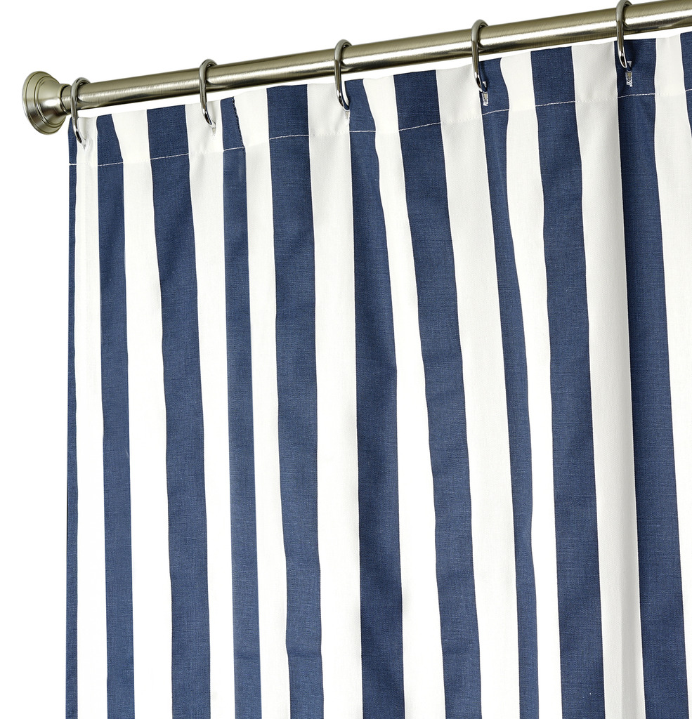 extra long shower curtains xxl navy stripe 96 long x 72 wide 100