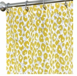 Extra Long Shower Curtains Yellow Animal