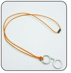 Eyeglass Chain Orange / Silver