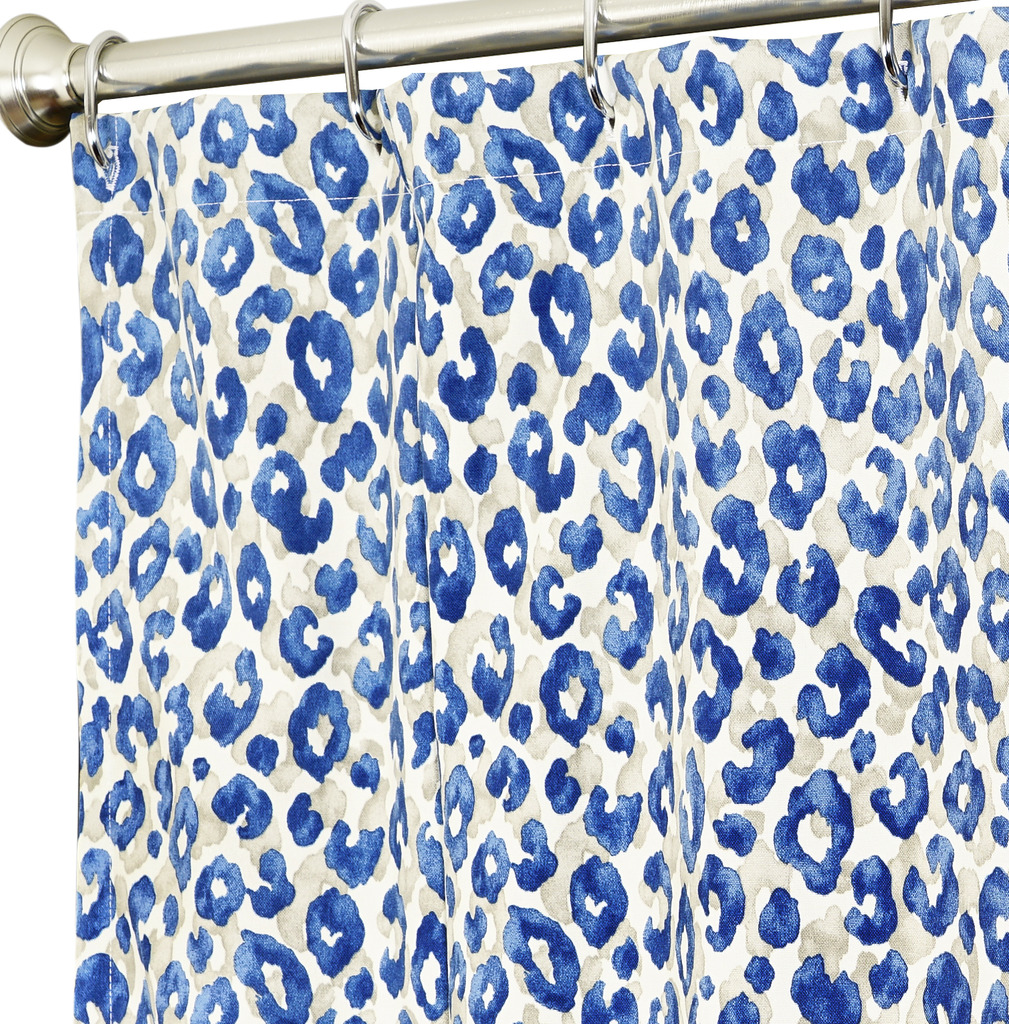 Blue Fabric Shower Curtains