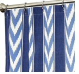 Fabric Shower Curtains Blue Stripe