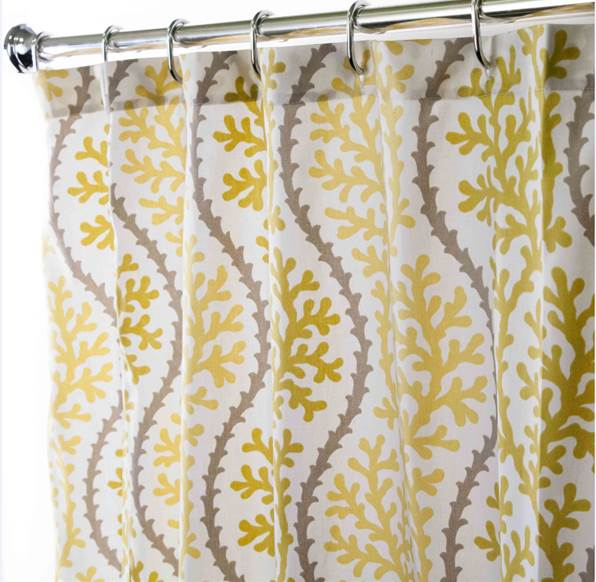 Yellow Fabric Shower Curtain Home Design 2017