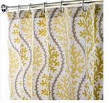 Fabric Shower Curtains Coral Yellow