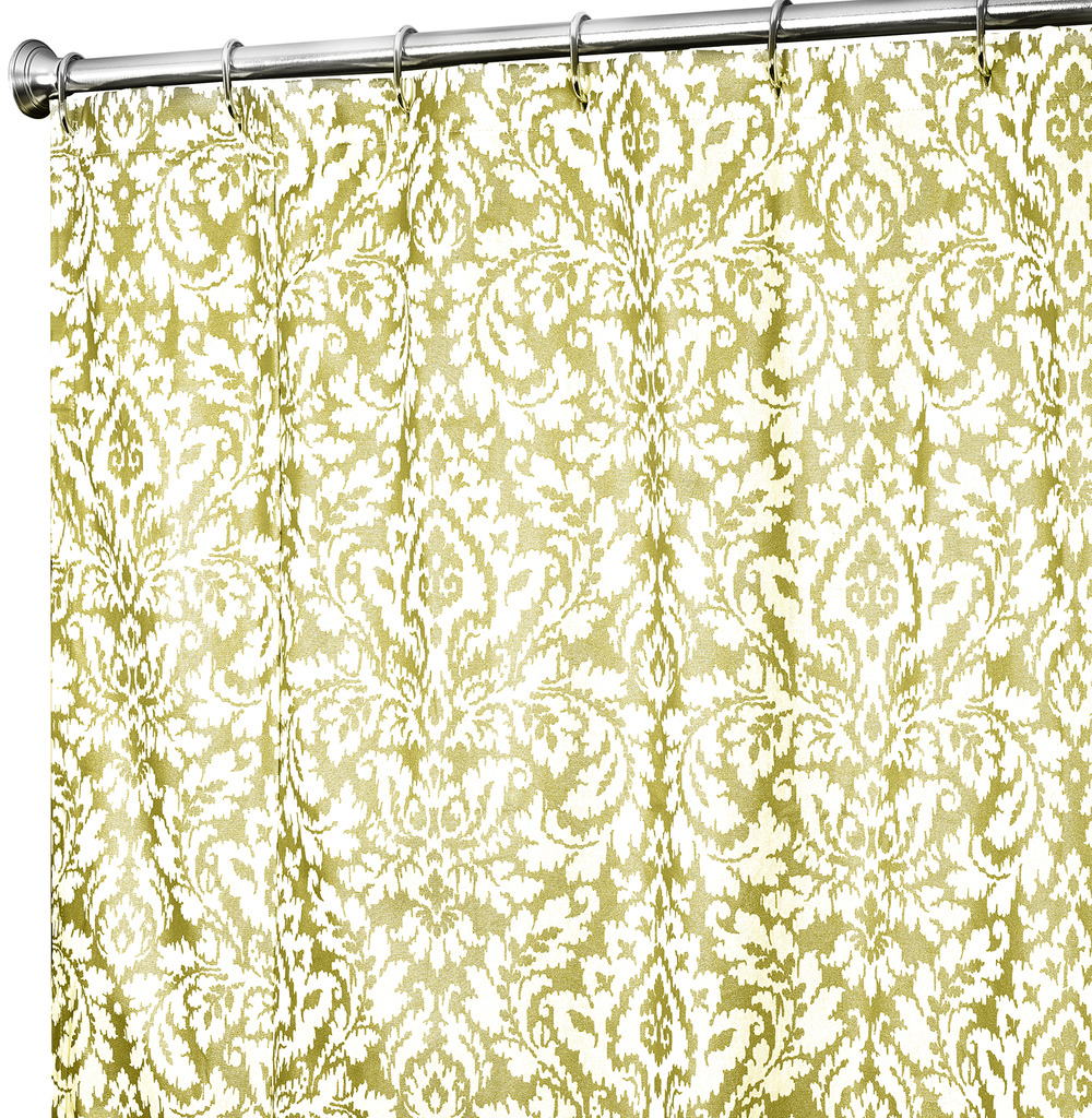 28 Gold Damask Shower Curtain By