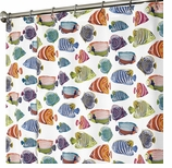 Fabric Shower Curtains Fishtale