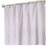 Fabric Shower Curtains Purple Geom