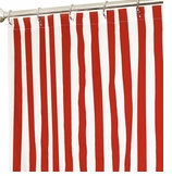 Fabric Shower Curtains Stripe Red