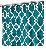 Fabric Shower Curtains Teal