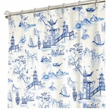 Fabric Shower Curtains Toile