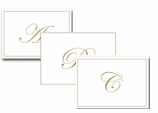 Fine Stationery Note Cards Gold Monogrammed
