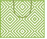 Gift Wrap Bags Chevron Green Large