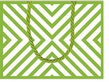 Gift Wrap Bags Chevron Green Small