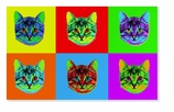 Gifts for Cat Lovers Warhol Mat