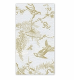 Hand Towels for Weddings White/Gold
