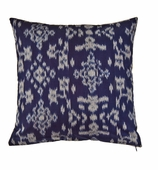 Ikat Pillow Blue COVER ONLY