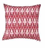 Ikat Pillow Red COVER ONLY