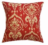 Ikat Pillows Red without Insert