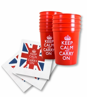 Keep Calm and Carry On Party Things