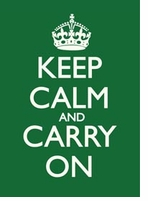 Keep Calm and Carry On Poster Forest Green