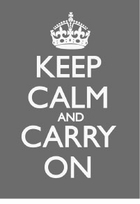 Keep Calm and Carry On Poster Grey/White